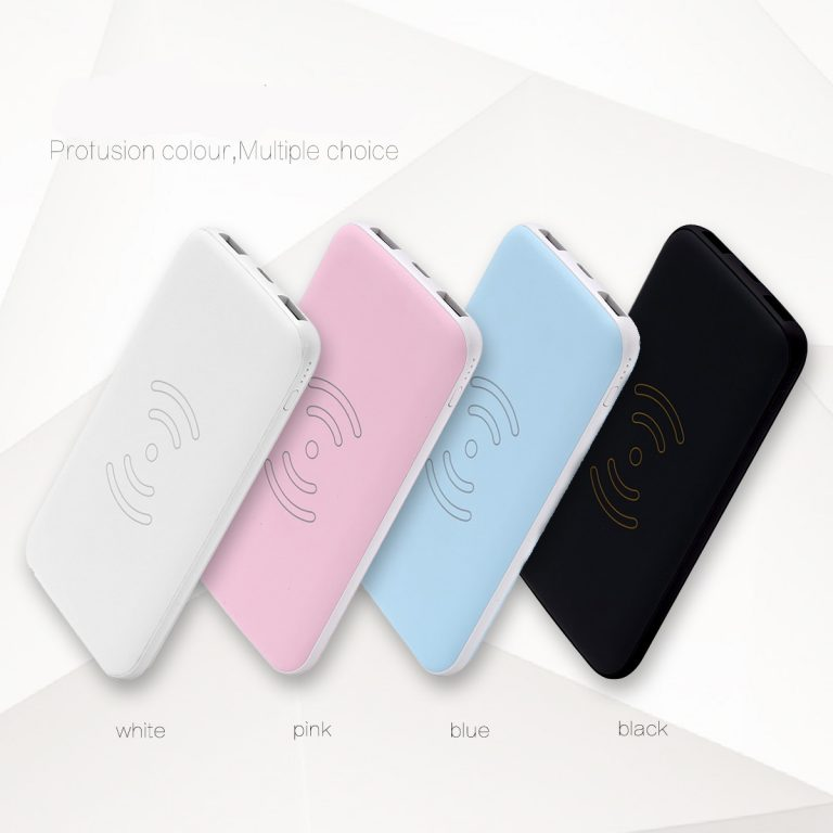 Wireless Power Bank with 2in 2out